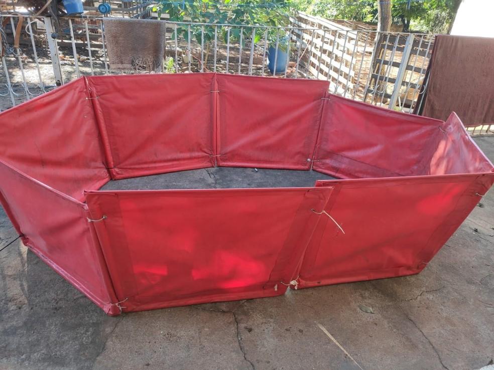 Rinha de galos era realizada em chácara na zona rural de Avaí — Foto: Polícia Civil/Divulgação