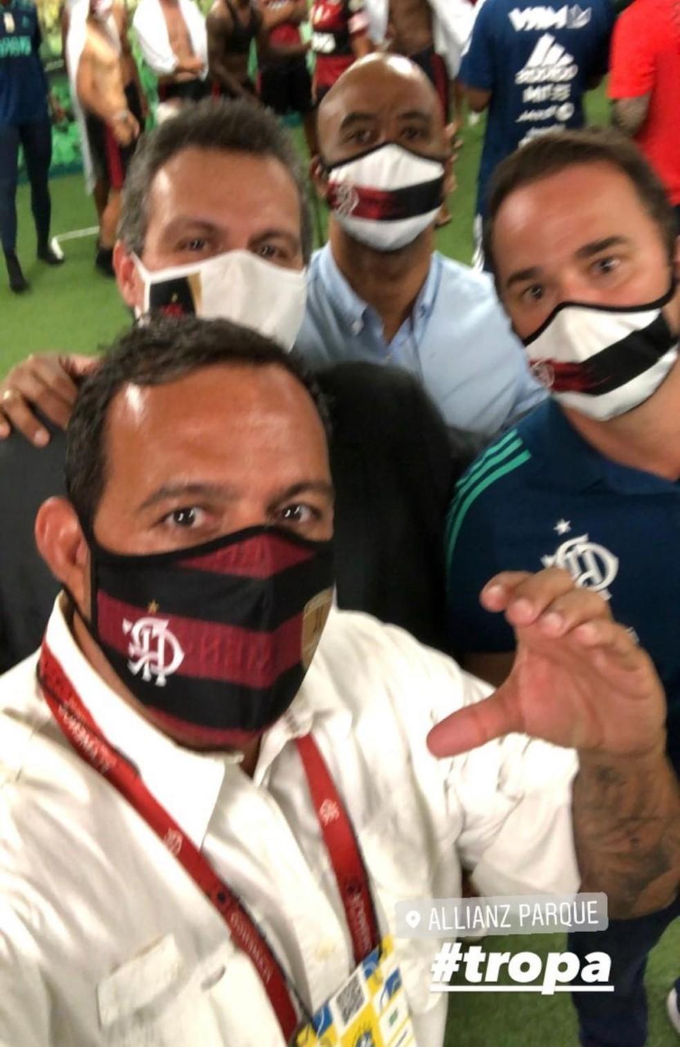 Cacau Cotta, Bruno Spindel e Gabriel Skinner estiveram em contato direto com Braz — Foto: Reprodução