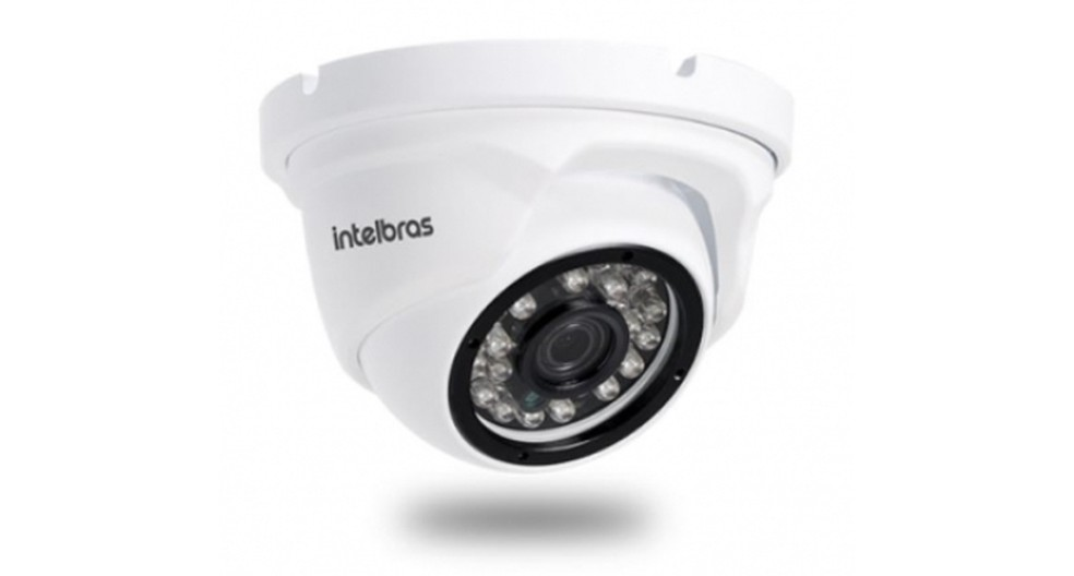 Câmera Intelbras IP minidome Full HD VIP 1220 D  (Foto: Divulgação/Intelbras)