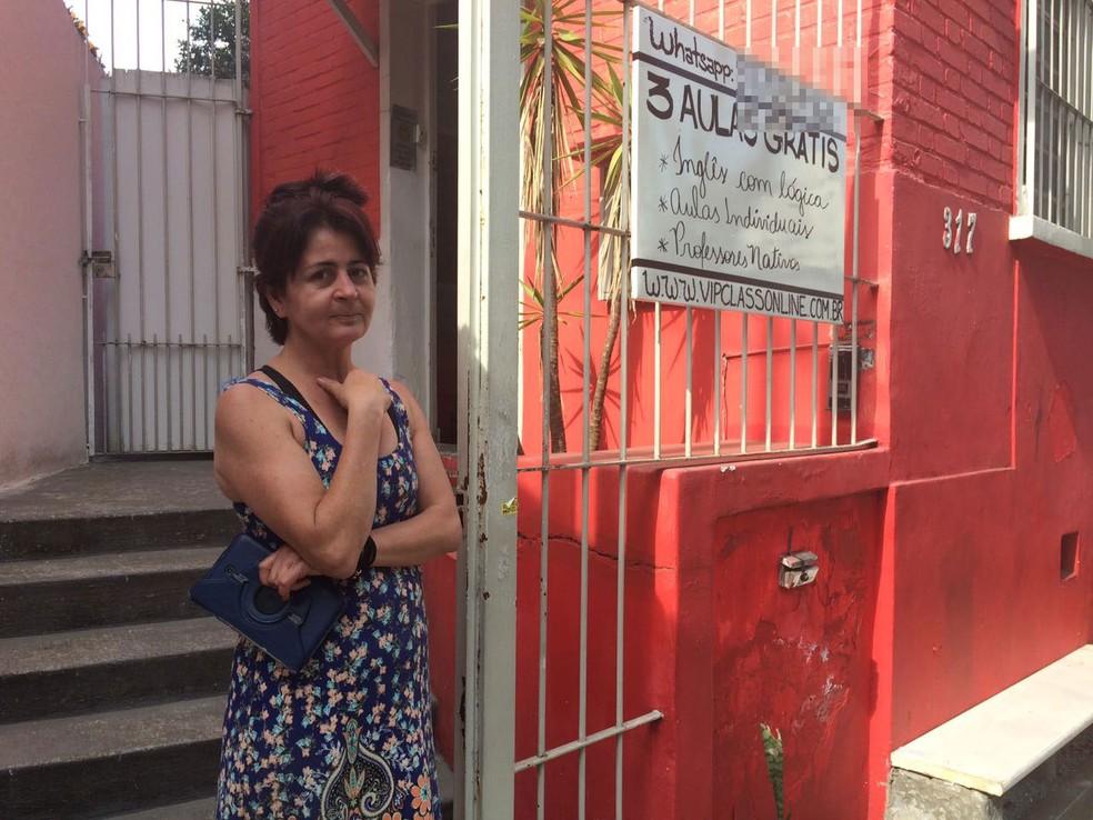 Vizinha que mora ao lado diz que Farah usava roupas de mulheres (Foto: Tahiane Stochero/G1)
