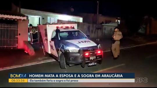Homem é preso suspeito de matar a mulher e a sogra com golpes de faca em Araucária