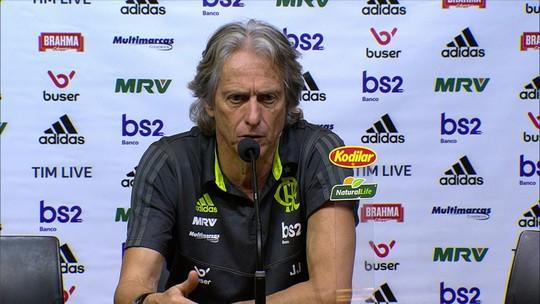 """Jorge Jesus elogia vitória do Flamengo e reclama de convocados: """"Seleção disse que era um jogador por equipe"""""""