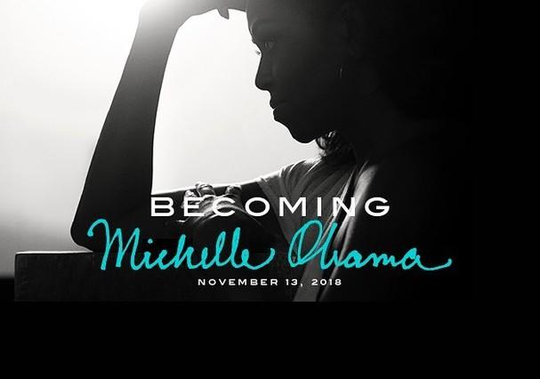 Prévia da capa do novo livro de Michelle Obama (Foto: Reprodução)