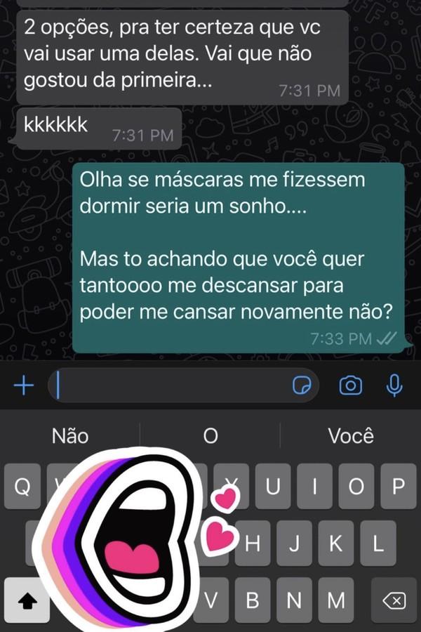Mayra mostrou até a troca de whatsapp (Foto: Reprodução/Instagram)