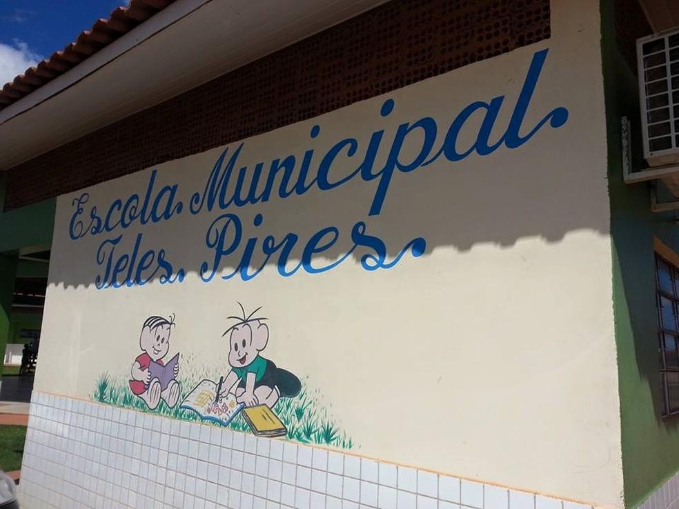 Segundo a Polícia Civil, crimes ocorreram na Escola Municipal Teles Pires, em Paranatinga (Foto: Divulgação)