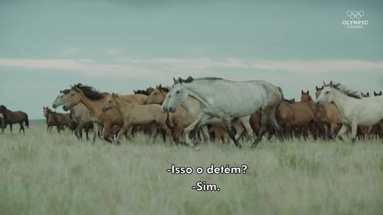 Com a pureza do campo, cavalos são fonte de energia de boxeadores do Cazaquistão