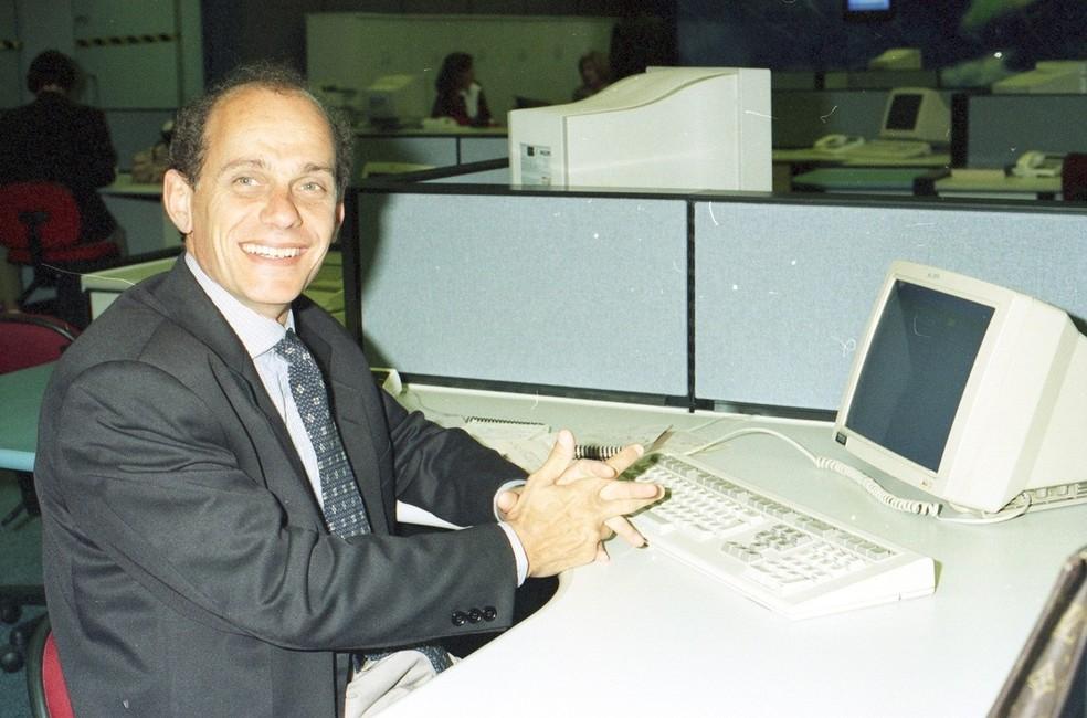 Ricardo Boechat em foto de arquivo da TV Globo — Foto: Acervo TV Globo