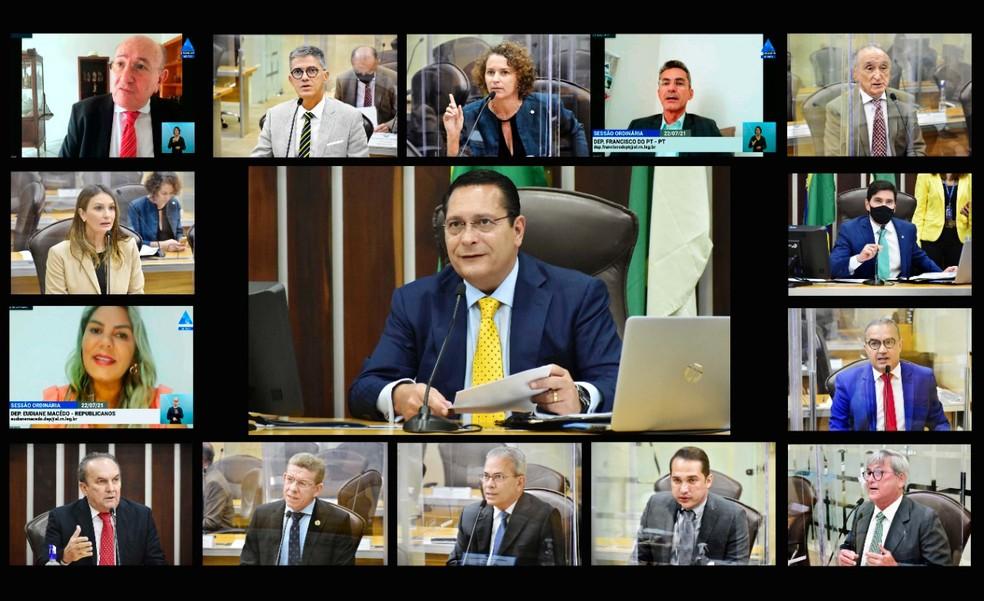 Parlamentares aprovaram LDO nesta quinta-feira (22) em sessão plenária na ALRN — Foto: Divulgação