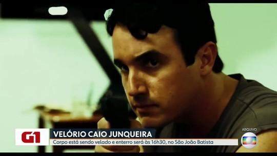 Corpo do ator Caio Junqueira é velado no Rio
