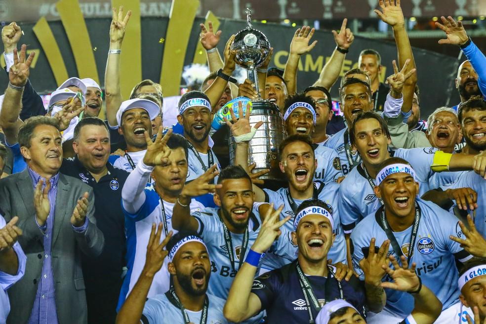 Grêmio venceu a última edição da Libertadores (Foto: Lucas Uebel / Grêmio F.B.P.A.)