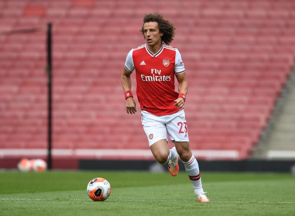 David Luiz zagueiro Arsenal — Foto: Stuart MacFarlane/Arsenal FC