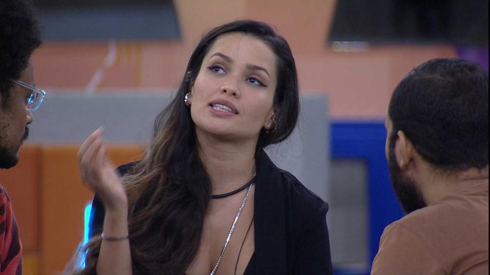 Gilberto pede desculpas a Juliette: 'Eu estava no auge da minha raiva' — Foto: Globo