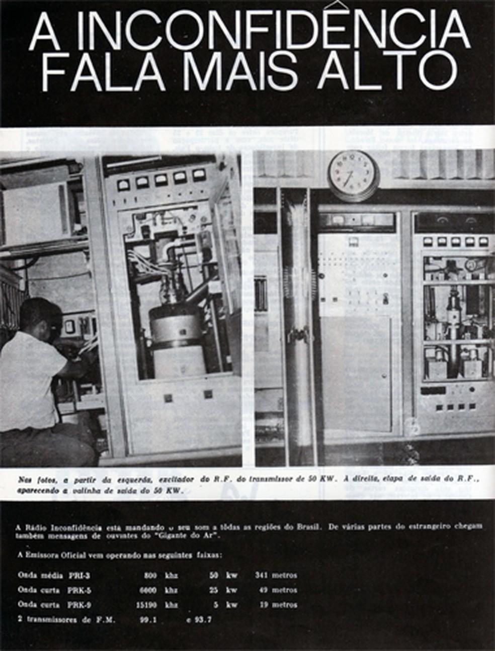 A rádio alcança todos os 853 municípios de Minas Gerais — Foto: Rádio Inconfidência/Acervo