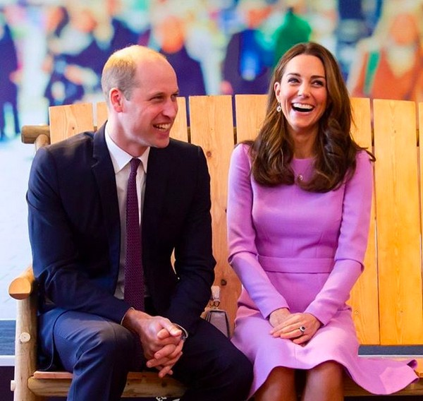 O Príncipe William com a esposa, a duquesa Kate Middleton (Foto: Instagram)