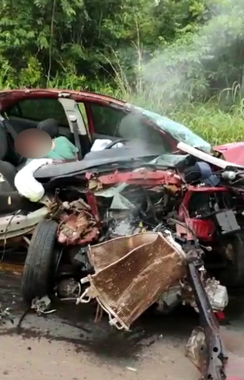 Said morreu ainda no local do acidente — Foto: Reprodução