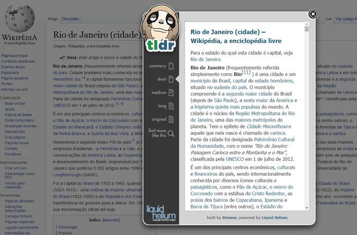 Resuma textos com a ajuda do TLDR (Foto: Reprodução/Carol Danelli)
