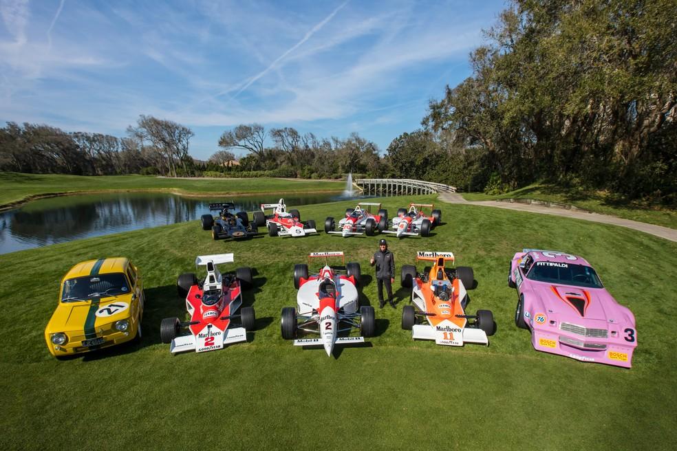 Concurso de Elegância da Ilha de Amélia, nos EUA, reuniu diversos carros marcantes da carreira de Emerson Fittipaldi (Foto: Deremer Studios LLC)