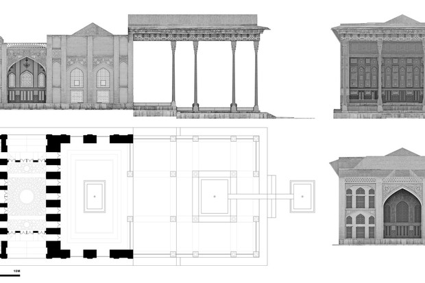 Palácio dos Espelhos, destruído em 1891 no Irá, é reconstruido digitalmente (Foto: Divulgação)