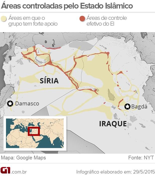 estado islâmico mapa - V02 (Foto: Arte/G1)