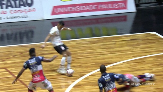Os gols de Corinthians 3 x 1 Cascavel pela Liga Nacional de Futsal
