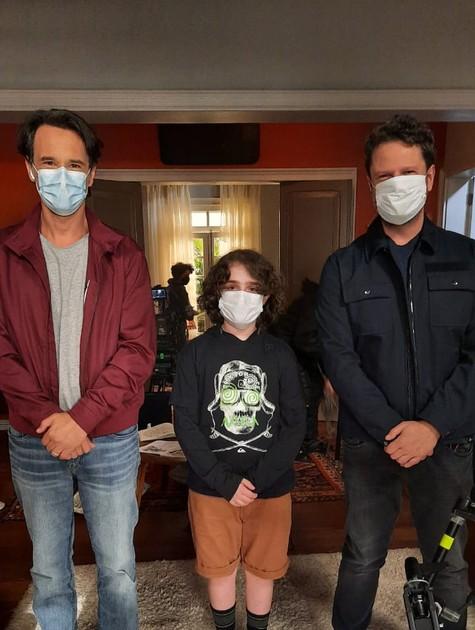 Rodrigo Santoro, Dani Gutto e Selton Mello (Foto: Arquivo pessoal)