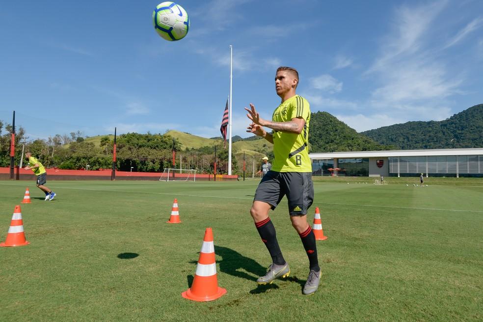 Cuellar é titular absoluto do Flamengo — Foto: Alexandre Vidal / Flamengo