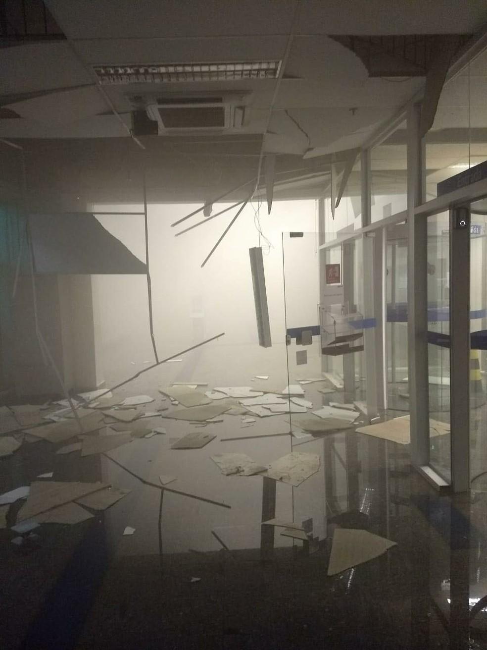 Criminosos usaram explosivos para atacar as agências bancárias de Bauru (Foto: Arquivo Pessoal)