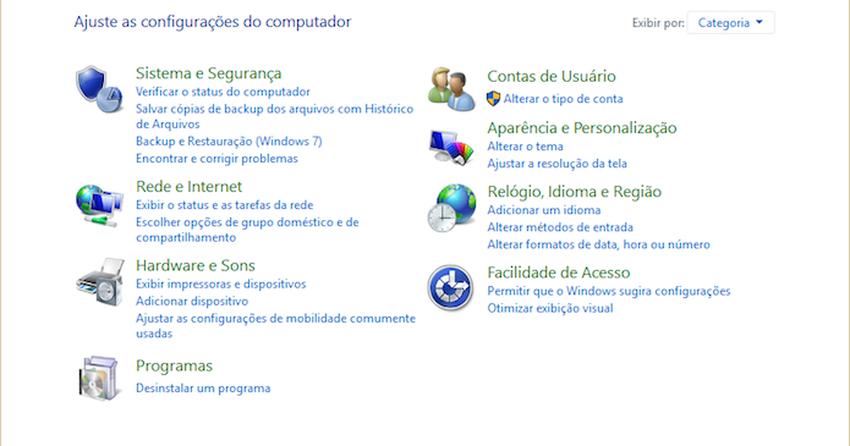 Como acessar o Painel de Controle antigo no Windows 10