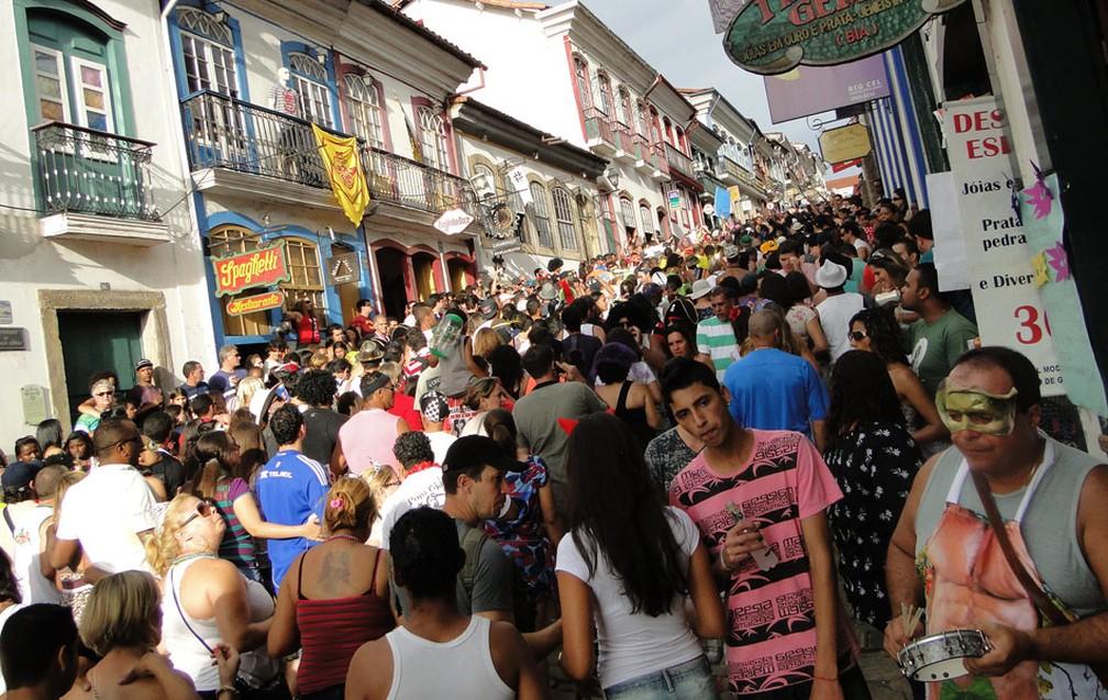 Carnaval em Ouro Preto em 2018 terá somente dinheiro da iniciativa privada (Foto: Raquel Freitas / G1)