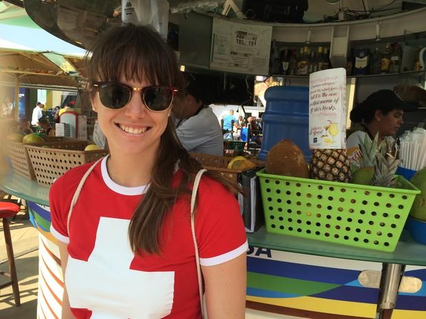 Alina Lotschov, da Suíça (Foto: Flávia Mantovani/G1)