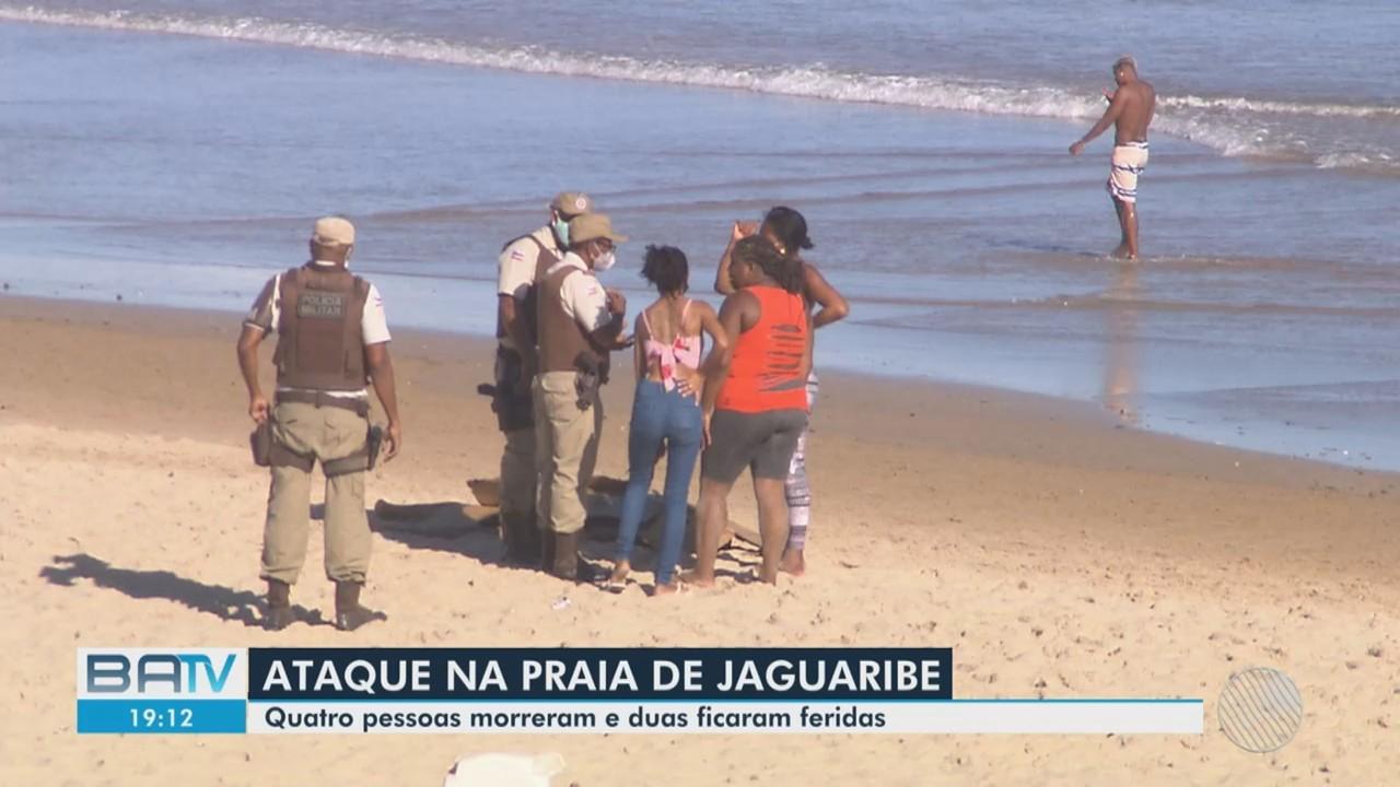 Ataque a tiros deixa mortos e feridos na praia de Salvador
