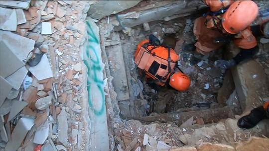 Buscas por vítimas dos desabamentos na Muzema, Zona Oeste do Rio, entram no 6º dia