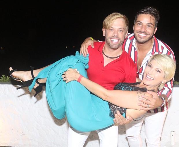 Bruno Chateaubriand, Diego Bocca e Antonia Fontenelle (Foto: Reginaldo Teixeira)