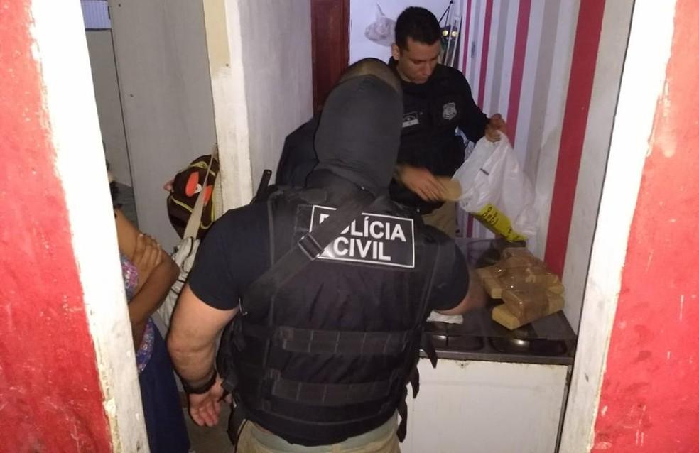 Polícia Civil encontrou drogas durante a Operação Semente, no Grande Recife — Foto: Polícia Civil/Divulgação