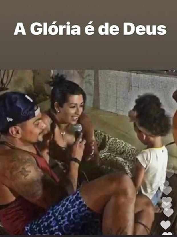 Naldo, Moranguinho e Maria Victória (Foto: Reprodução/Instagram)
