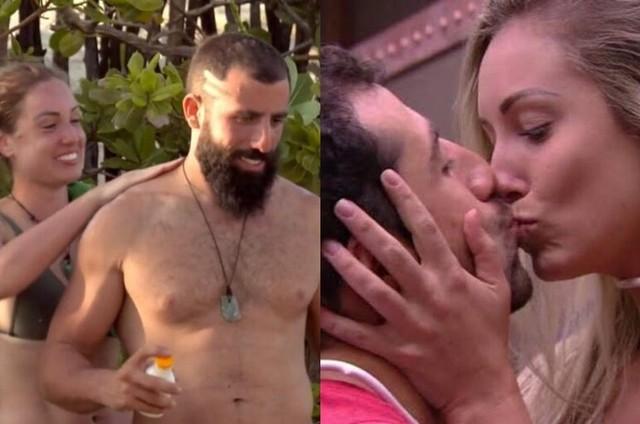 Kaysar e Jéssica em 'No limite' e no 'BBB' 18 (Foto: Reprodução)