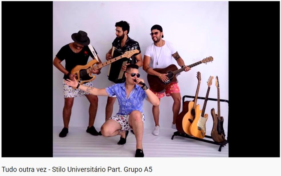 Grupo Stilo Universitário lança música nova e emociona fãs e familiares de Ibitinga — Foto: Youtube/Reprodução