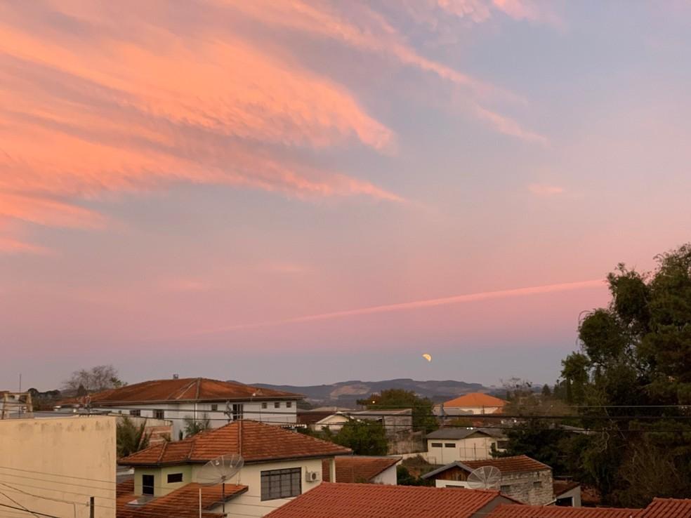Eclipse Lunar jul/2019 — Foto: Via app Você na RPC