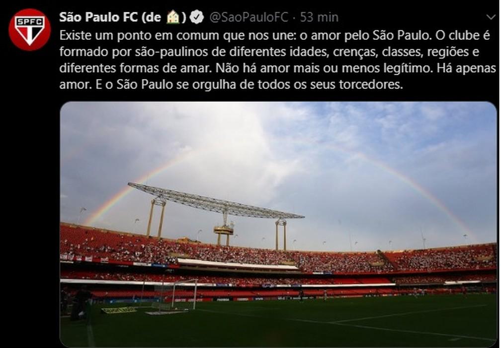 São Paulo se posiciona no Dia Internacional do Orgulho LGBTQIA+ — Foto: Reprodução
