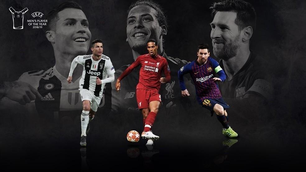 Resultado de imagem para Messi, Cristiano Ronaldo e Van Dijk disputam prêmio da Uefa e Alisson é 4º melhor
