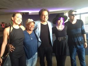 Artistas foram ao evento no Rio para apoiar o projeto Amazônia Live, do Rock in Rio (Foto: G1)