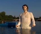 Estátua de Mr. Darcy (Colin Firth) em Londres | Reprodução da internet