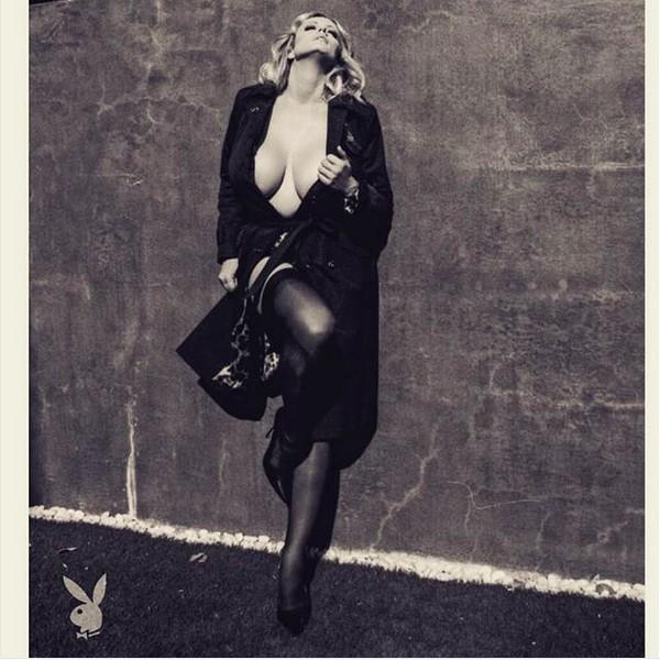 A atriz pornô Stormy Daniels em prévia do ensaio protagonizado por ela para a versão norte-americana da revista Playboy (Foto: Instagram)