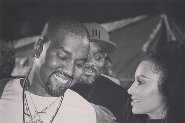 Kim Kardashian e Kanye West (esq) (Foto: Reprodução/Instagram)