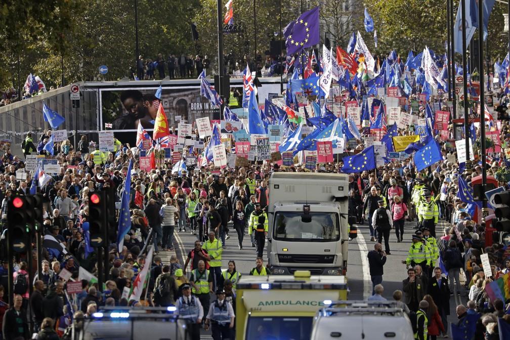 London protest against Brexit - Photo: AP Photo / Matt Dunham
