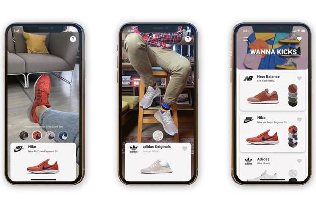 Interface do aplicativo Wanna Kicks (Foto: divulgação)