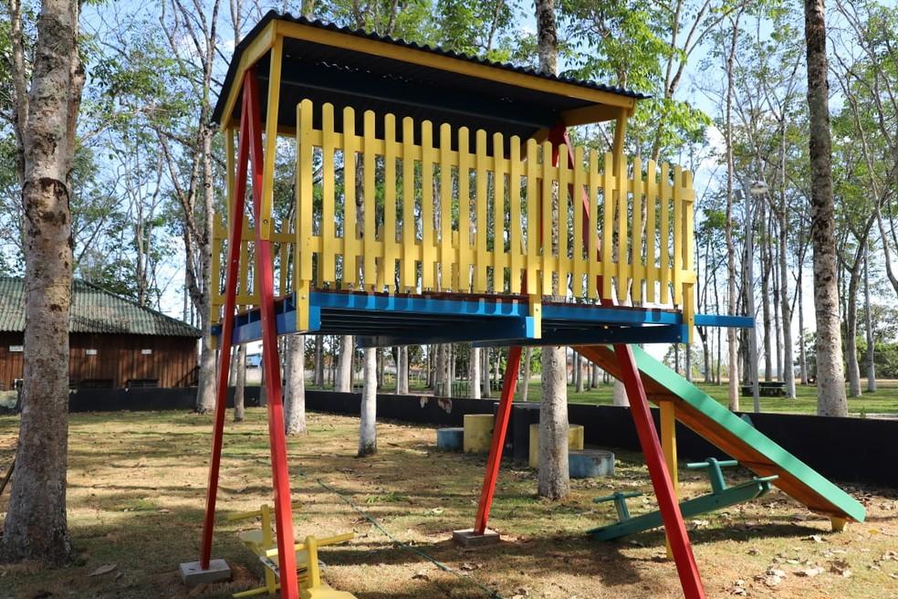 Parque Circuito também conta com playground para crianças e academia ao ar livre.  — Foto: Divulgação/Prefeitura de Porto Velho