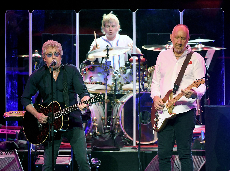 Roger Daltrey em ação com seus colegas de The Who (Foto: Getty Images)