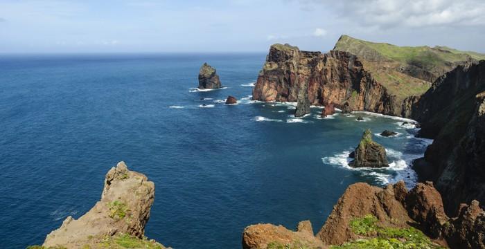 Uma das paisagens naturais da Ilha da Madeira, em Portugal