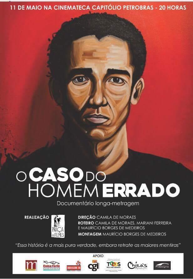 Cartaz de O Caso do Homem Errado, de Camila de Moraes (Foto: Reprodução)